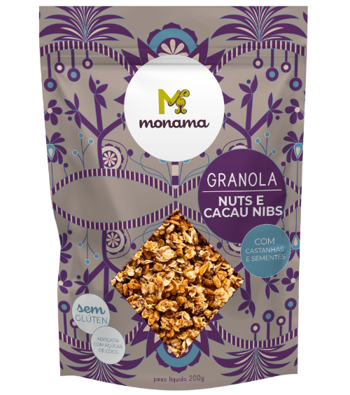 220400 - MONAMA_200g_Granola Nuts e Cacau Nibs - Sem Glúten_FRENTE