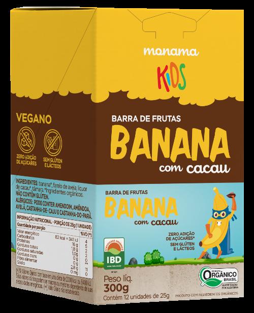 220422 - MONAMA KIDS_300g_Display Barra Aveia + Banana e Cacau - Orgânica_FRENTE