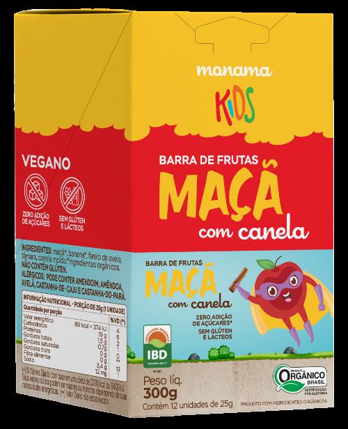 220425 - MONAMA KIDS_300g_Display Barra Aveia + Maçã e Canela - Orgânica_FRENTE