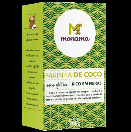 220461 - MONAMA_200g_Farinha de Coco - Sem Glúten_FRENTE